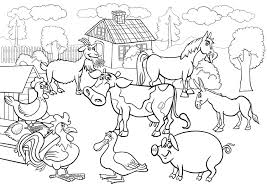 Farm Animal Coloring Book With Animals Lesson Plans For