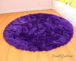 round flokati rugs charming handmade rug in purple with wood flooring and baseboard grey uk