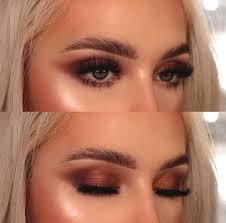 copper smokey eye makeup green eyes min