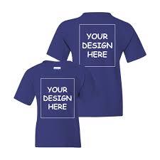 Design Your Own T Shirt Gildan Custom T Shirt Youth Gildan S S Two Side Print Mandys