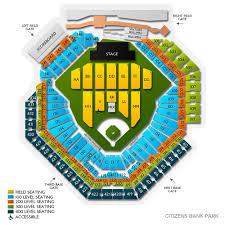 Citizens Bank Park Seating Chart Concert 24 High Quality Citizens Bank Park Concert Seating View