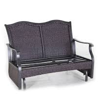 better homes gardens providence 2 person outdoor glider loveseat com