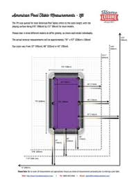 Pool Table Sizes Chart Pool Table Room Size Guide Home Leisure Direct