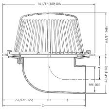 Roof Drain Pipe Sizing Chart Roof Drain Sizing Pvc Plus Pack Roof Drain Kit Aluminum
