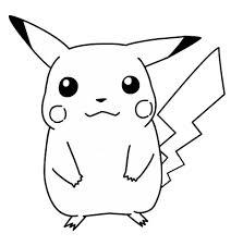 Disegno Di Pokemon Pikachu Da Colorare Per Bambini Con Immagini Da