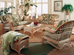 sunroom wicker furniture. Furniture. Brown Wicker Sofa Set With Green Fabric Seats Added By Rectangle  Table Sunroom Furniture T