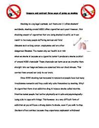compare and contrast three ways of giving up smoking gcse page 1