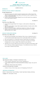 Military Resume Devmyresume Com