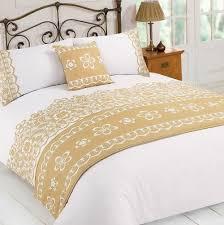 white and gold duvet cover uk