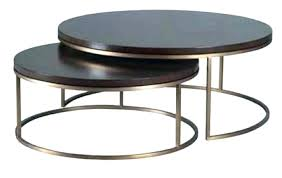 coffee table nest round nesting tables marble top with brass frame set stacking side