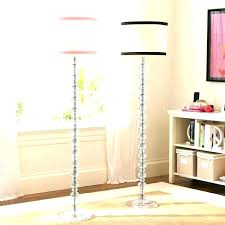 mercury glass floor lamp silver antique stacked ball clear