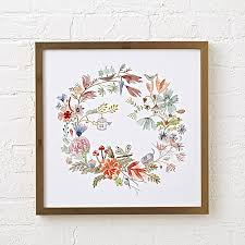 on watercolor floral wall art with watercolor floral wreath wall art reviews crate and barrel