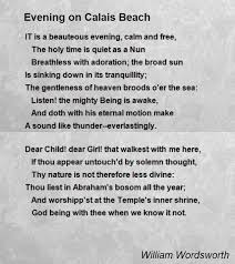 evening on calais beach poem by william wordsworth poem hunter