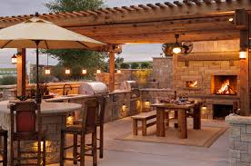 Outdoor Kitchen Ideas Photos Inspirations With Bar Picture Pergola