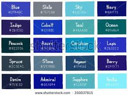 Blue Color Chart With Names Blue Tone Color Shade Background With Code And Name