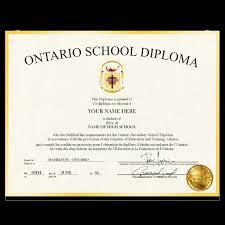 High School Deploma Canada Fake High School Diploma Diplomacompany Ca