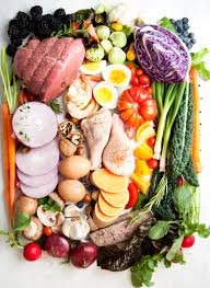 Picture of fresh vegetables and meats
