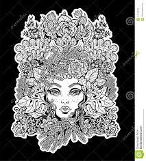 Celtic Shaman Fairy Green Elf Illustration Stock Vector
