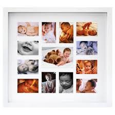 baby collage frame or this one for olivia 12 month white baby collage frame opens in a