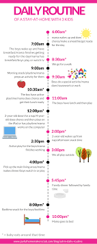 Daily Routine Of A Stay At Home With 3 Kids Mom Schedule