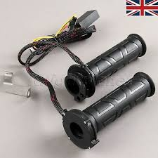 "<b>7/8</b>"" 22mm <b>Motorcycle</b> Electric <b>Adjustable</b> Molded Heated Grips Hot ..."