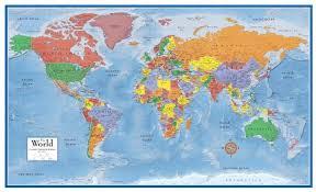 swiftmaps world premier wall map poster
