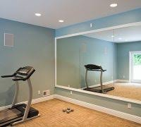 contemporary recessed lighting. Charleston Gym Mirror With Contemporary Recessed Light Trims Home  Traditional And Workout Room Blue Lighting