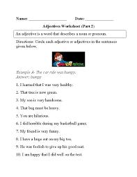 Adjectives Worksheet Circling Part 2 Beginner | Englishlinx.com ...