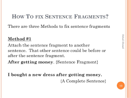 Sentence Fragments By Sohail Ahmed