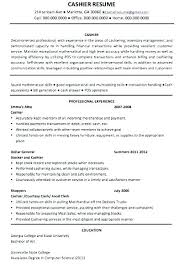 Cashier Resume Description Cashier Job Duties For Resume Example Of Cashier Resume Cashier Job 58