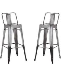 distressed metal furniture. AC Pacific Distressed Metal Barstool With Back, Black, 30 -inch, Set Of Distressed Metal Furniture