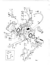 volvo penta exploded view schematic connecting components aq exploded view schematic