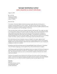 Solicitation Latter 10 Sample Solicitation Letter For Business Resume Samples