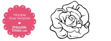 Paper Flower Print Out Printable Rose Flower Template Cut Out Download Them Or Print