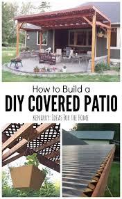 diy covered patio diy patio cover
