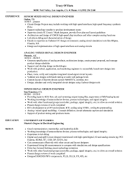 Ic Design Engineer Resume Signal Design Engineer Resume Samples Velvet Jobs