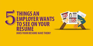 Five Things An Employer Wants To See On Your Resume Resume Cover