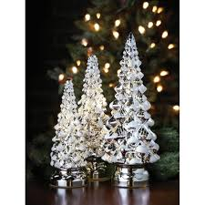 Twinkling Trees - LED Lighted Mercury Glass - Set of Three - Holiday Decor  - navy - Free Shipping Today - Overstock.com - 24812547