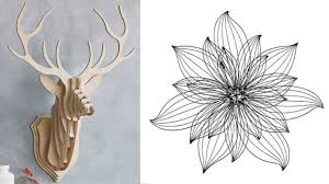 >what we like wall art wooden stag head 87 29 clive roddy at etsy flower metal wall