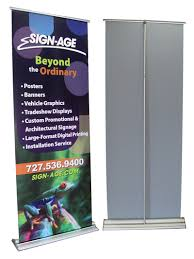 Pull Up Display Stands New Pull Up Banners Tampa FL Rectractable Banner Roll Up Banner