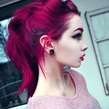 black earring emo hair make up red scene