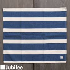 north european design tablecloth white on navy horizontal stripe big luncheon mat 67 58cm large