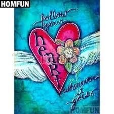 "<b>HOMFUN</b> Full Square/Round Drill 5D DIY <b>Diamond Painting</b> ""Love ..."