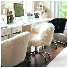 furry desk chair fuzzy office photos white staggering home uk