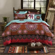 bohemia 4 3pcs3d comforter bedding sets sham boho mandala duvet cover set winter bedsheet queen king size bedlinen in bedding sets from home garden on
