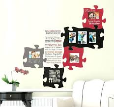 chic design puzzle piece wall decor small home inspiration art designs jigsaw as well your family and friends together dad