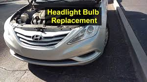 Headlight Light Bulb Replacement On A Hyundai Sonata Remix