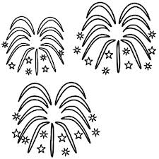 Small Picture Luminous Sky with Fireworks Coloring Page Download Print