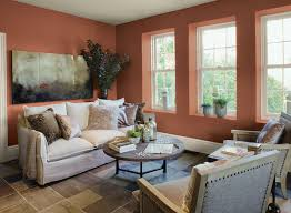 What Colour To Paint Living Room Orange Living Room Ideas Rich Orange Living Room Paint Color