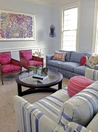 Blue And Magenta Living Room  Eclectic  Living Room  San Lavender Color Living Room